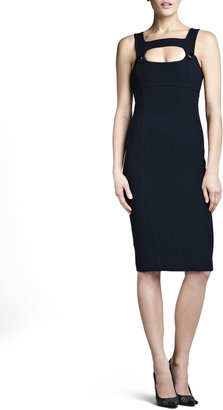 Michael Kors Fitted Cutout Dress, Midnight
