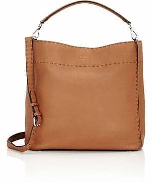 Fendi Women's Selleria Anna Leather Hobo Bag - Mou, tan