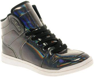 Asos DREAMER Iridescent High Top Sneakers