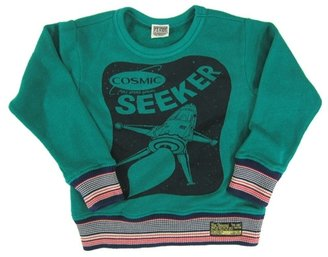 Bit'z Bit'z Kids - Boy's Space Printed Long Sleeve Sweater - Emerald Green