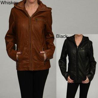 Esprit Women's Zippered Front Faux Leather Coat $54.99 thestylecure.com