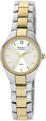 Armitron Now Womens Two-Tone Stainless Steel Diamond Accent Watch $65 thestylecure.com