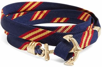 Brooks Brothers Kiel James Patrick Mini BB#1 Stripe Wrap Bracelet