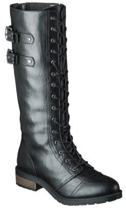 Mossimo Women's Jia Tall Trooper Boots - Black