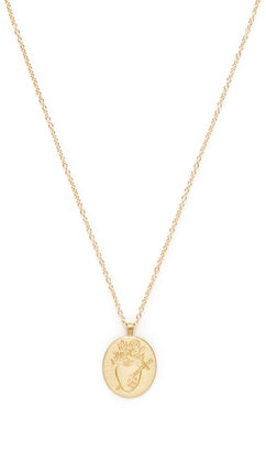 Me & Ro Gold Heart With Tears Engraved Pendant Necklace