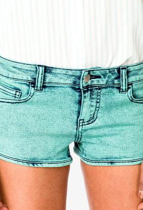 Forever 21 Acid Wash Denim Shorts