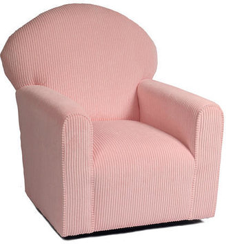 The Kacy Collection Century Tight Seat Glider - Pink Plush Corduroy Fabric