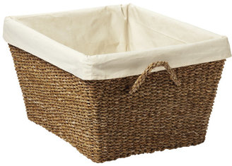 Container Store Rectangular Typha Laundry Basket