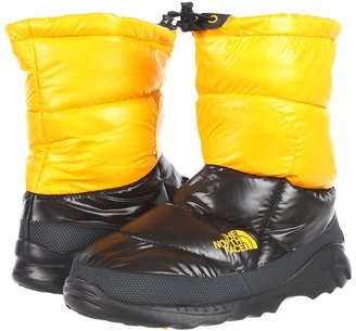 The North Face Nuptse Bootie III (Shiny TNF Black/Shiny TNF Yellow) - Footwear