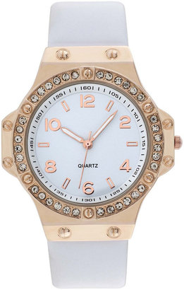 FASHION WATCHES Womens Faux Leather Stone Accent Watch $34 thestylecure.com