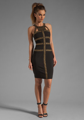 BCBGMAXAZRIA Cut out Mini Dress