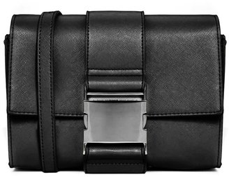 Asos Cross Body Bag With Large Buckle Detail - Black