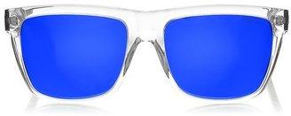 Jimmy Choo ALEX Square Framed Blue Mirrored Acetate Sunglasses