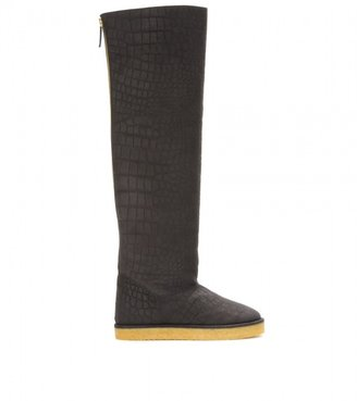 Stella McCartney FAUX SUEDE OVER-THE-KNEE BOOTS