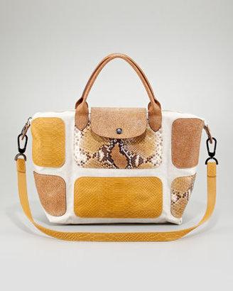 Longchamp Le Pliage Exotic-Print Tote Bag, Sunshine