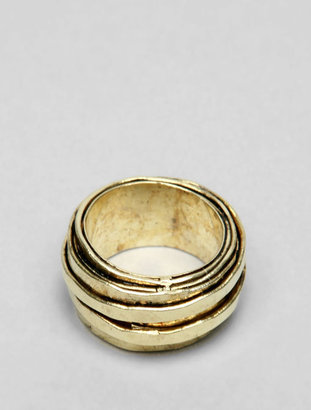 Citrine by the Stones Wire Ring in Gold