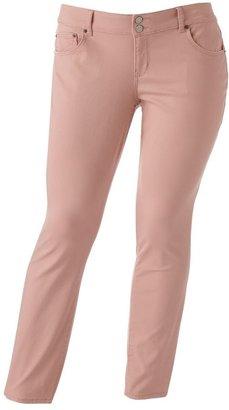 So ® color skinny jeans - juniors' plus