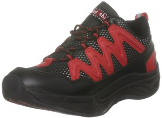 Chung Shi Unisex Magic Comfort Step Black/Red Walking Shoe 9103 005 4 UK