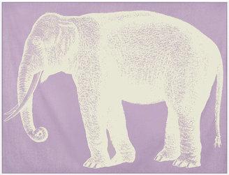 Thomas Paul Elephant Throw 50x70 Lavender
