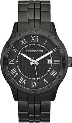 Claiborne Mens Black Dial & Black Bracelet Watch