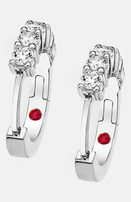 Women's Roberto Coin Diamond Hoop Earrings $2,300 thestylecure.com