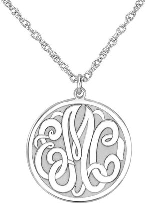 FINE JEWELRY Personalized Sterling Silver 20mm Monogram Round Pendant Necklace $399.98 thestylecure.com