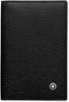 Montblanc Black Full-Grain Leather Business Card Holder 38034 $190 thestylecure.com