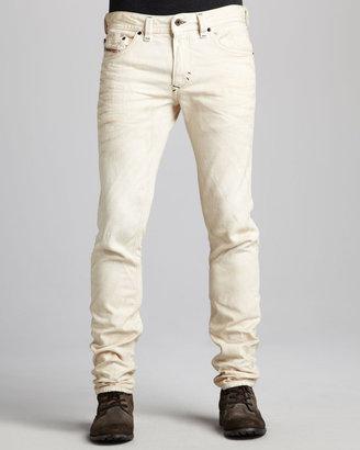 Diesel Thavar Skinny Jeans, Beige