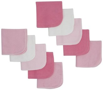 Gerber 10PK Washcloth - Multicolor-One Size- PINK