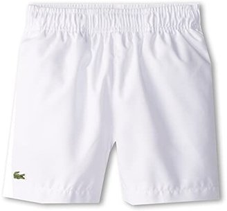 Lacoste Kids Taffeta Tennis Short (Little Kids/Big Kids) (White) Boy's Shorts