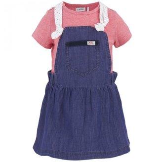 Ikks Pinafore Dress and Tee Set