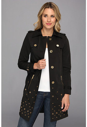 MICHAEL Michael Kors Grommet Single Breasted Trench Coat