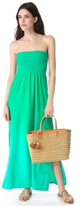 Juicy Couture Ombre Velour Strapless Maxi Dress