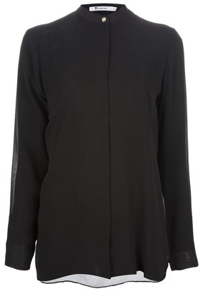 Alexander Wang band collar sheer blouse