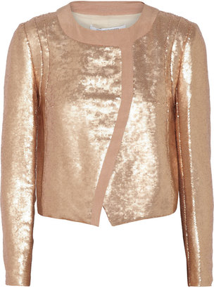 Diane von Furstenberg Sardinia metallic sequined jacket