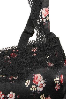 Stella McCartney Clara Whispering printed stretch-silk balconnette bra