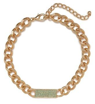 BaubleBar Mint Chain Tab Collar