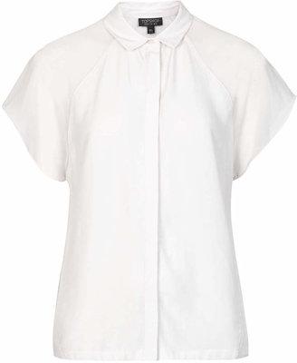 Topshop Sheer sleeve shirt