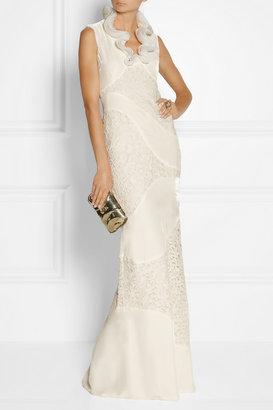 Alexander McQueen Velvet and lace gown