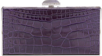 Judith Leiber Couture East-West Rectangle Clutch Bag, Violet