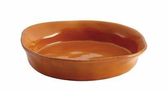 Rachael Ray Cucina Stoneware 1-1/2 qt. Round Baker in Pumpkin Orange