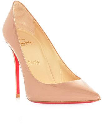 Christian Louboutin Decolette 100mm patent leather shoes