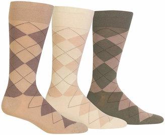 Polo Ralph Lauren Ralph Lauren Men Socks, Dress Argyle Crew 3 Pack Socks