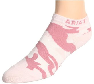 Ariat Camo Socks No Show (Pink) - Footwear