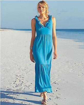 Newport News Ruffle trim long dress