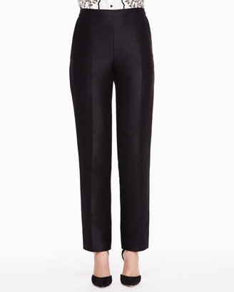 Carolina Herrera Skinny Trouser Pants, Black