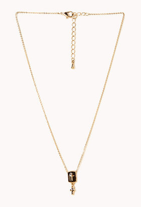 Forever 21 Everyday Cross Charm Necklace