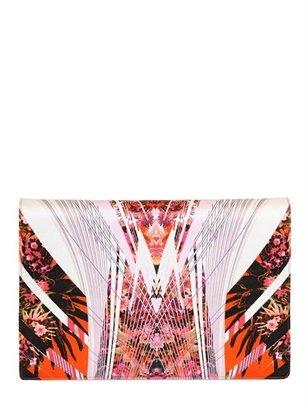 Roberto Cavalli Printed Silk Satin Clutch