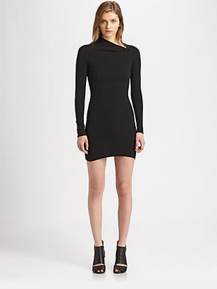 Helmut Lang Flare Fitted Dress