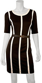 Amy Byer A Byer A. Byer Juniors' Contrast Band Belted Dress